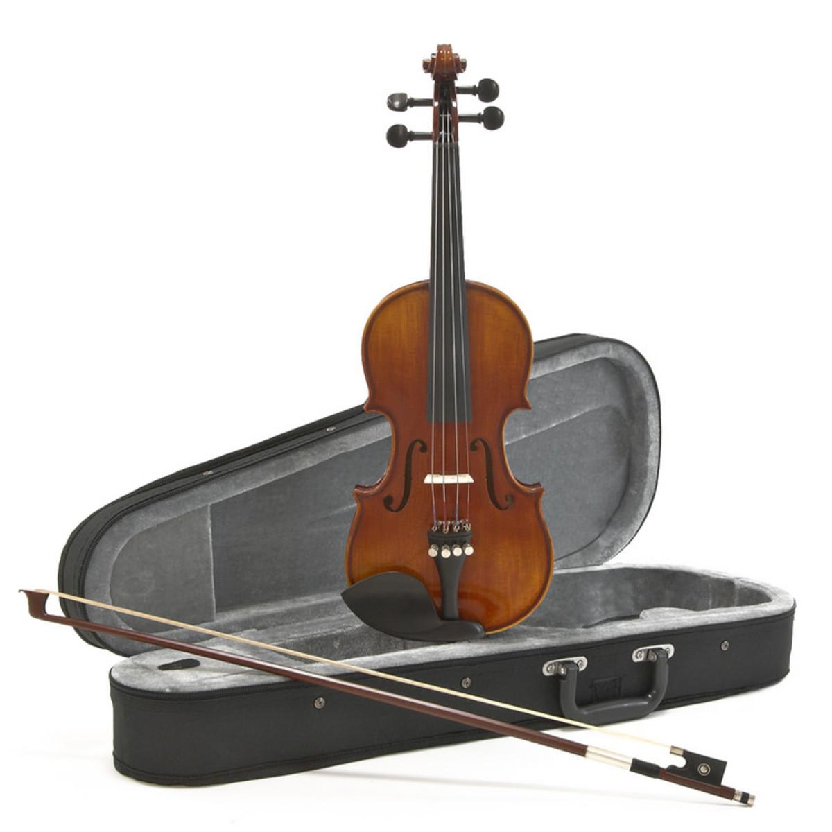 violon deluxe 1 4 aspect antique par gear4music. Black Bedroom Furniture Sets. Home Design Ideas