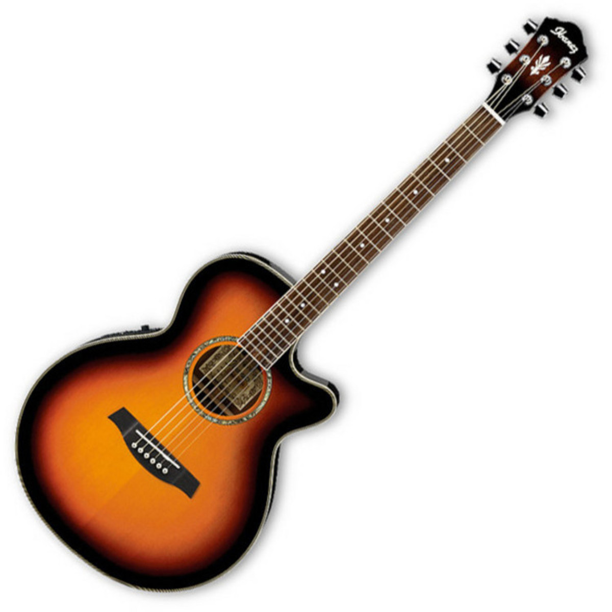 disc ibanez aeg10e electro acoustic guitar vintage burst. Black Bedroom Furniture Sets. Home Design Ideas