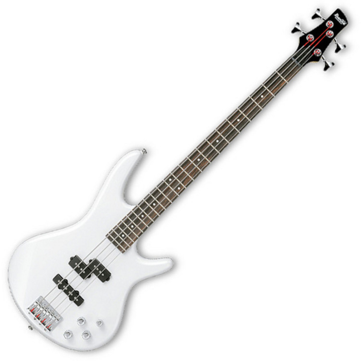 disc ibanez gsr200 gio bass guitar piano white with free gig bag at. Black Bedroom Furniture Sets. Home Design Ideas