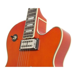 Epiphone Emperor Swingster Archtop Electric Guitar, Sunrise Orange Bridge