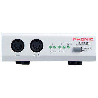 Phonic Midihub USB MIDI Interface (Front)
