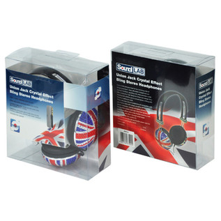 Electrovision Union Jack Headphones, Crystal Effect Finish