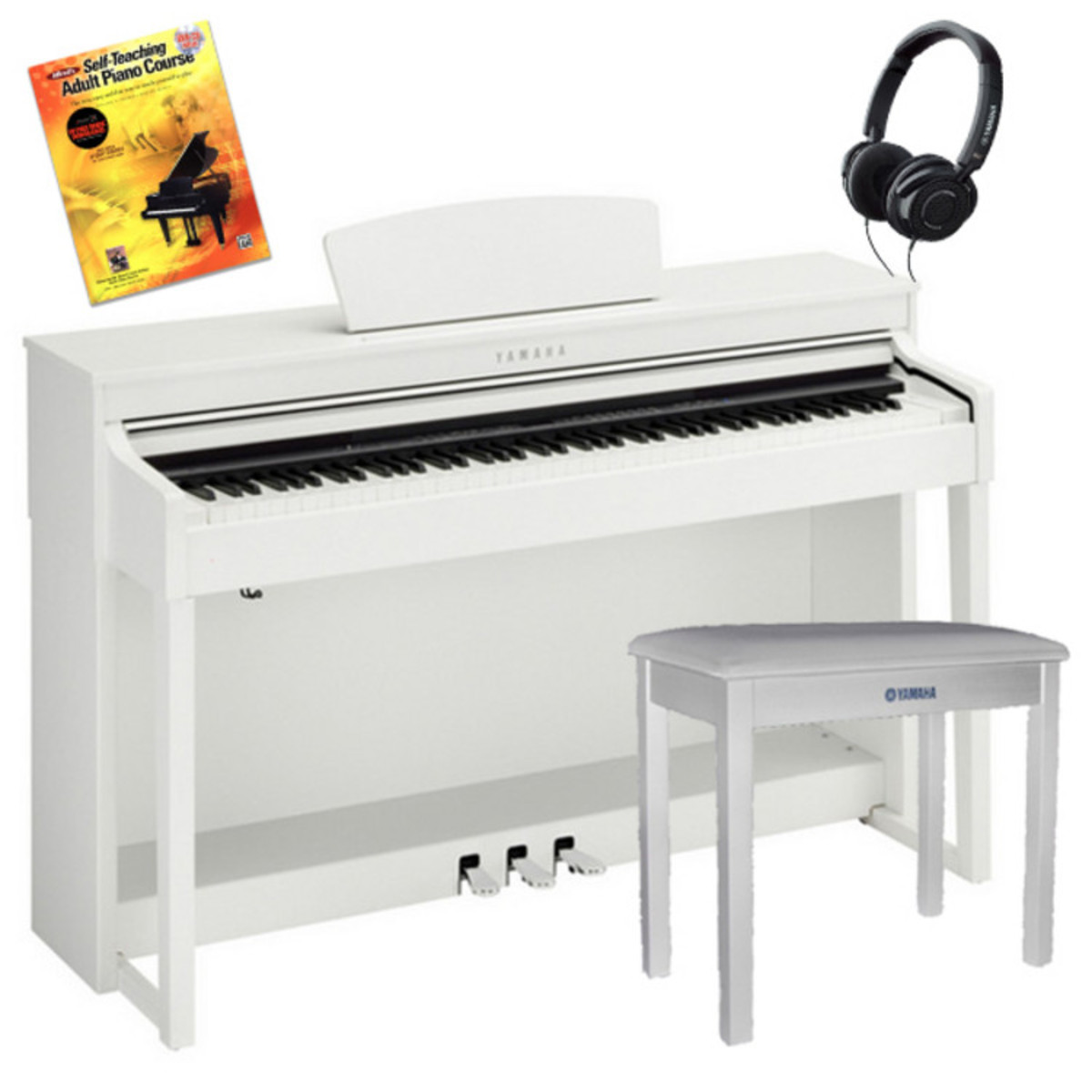 disc yamaha clavinova clp 430wh blanc avec banc casques livre. Black Bedroom Furniture Sets. Home Design Ideas