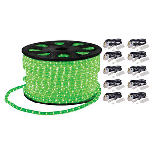 Electrovision Static Duralight Rope Light, 90m, Green
