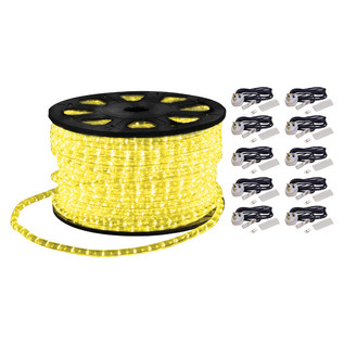 Electrovision Static Duralight Rope Light, 90m, Yellow