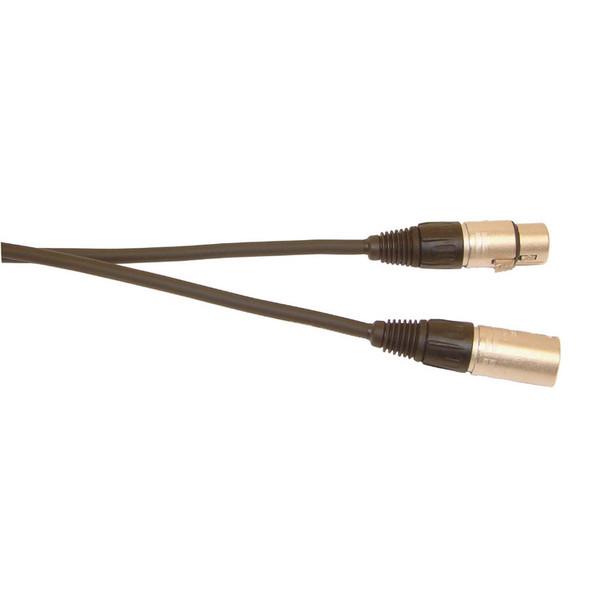 Electrovision DMX 5-Pin XLR Male to 5-Pin XLR Female Cable, 3m