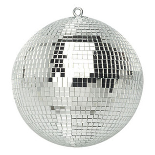 SoundLab Silver Lightweight Mirror Ball, 8