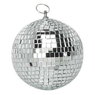 SoundLab Silver Lightweight Mirror Ball, 6