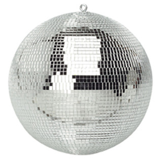 SoundLab Silver Lightweight Mirror Ball, 16