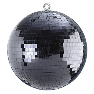 SoundLab Black Lightweight Mirror Ball, 12""