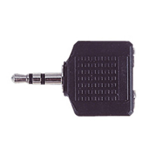 Electrovision 3.5mm Stereo Male/2x3.5mm Stereo Female Adaptor