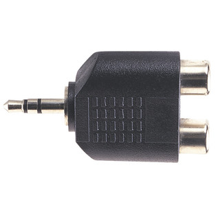 Electrovision 3.5mm Stereo Male/2xRCA Phono Female Adaptor