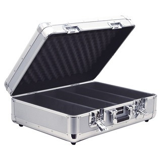 Electrovision Euro Style 150 CD Case with Lid and Soft Lining, Silver