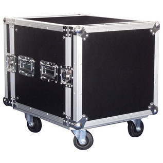 Electrovision Plywood Rack Case on Wheels with Removable Lids, 10U (Main 2)