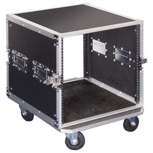 Electrovision Plywood Rack Case on Wheels with Removable Lids, 10U (Main 3)