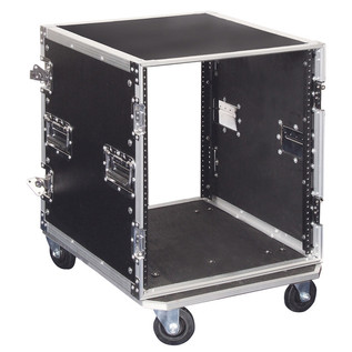 Electrovision Plywood Rack Case on Wheels with Removable Lids, 12U (Main 3)