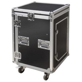 Electrovision Semi Flight 16U Rack Case with Lid and Castors (Main)