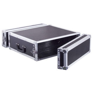 Electrovision Semi Flight Rack Case in Laminate Board, 3U (Main 1)