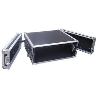 Electrovision Semi Flight Rack Case in Laminate Board, 4U