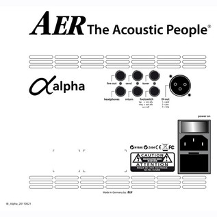 AER Alpha Plus, Black