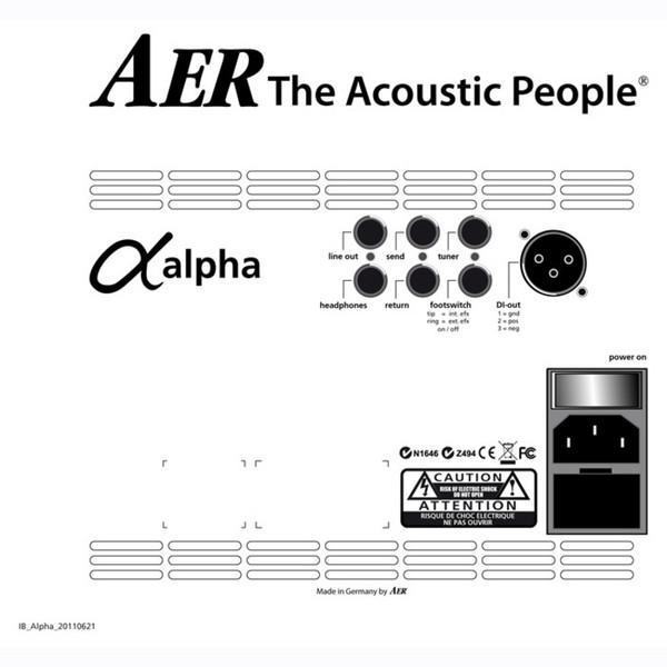 AER Alpha Plus, Black