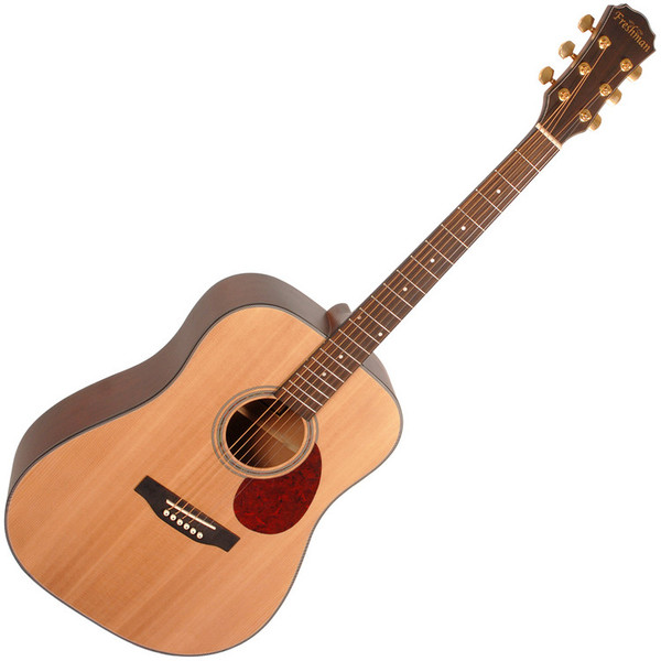 Freshman FA1DNS Dreadnought Acoustic Guitar, Natural with Hardcase