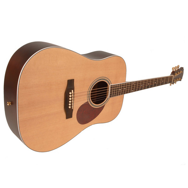 Freshman FA1DNS Dreadnought Acoustic Guitar, Natural with Hardcase Side
