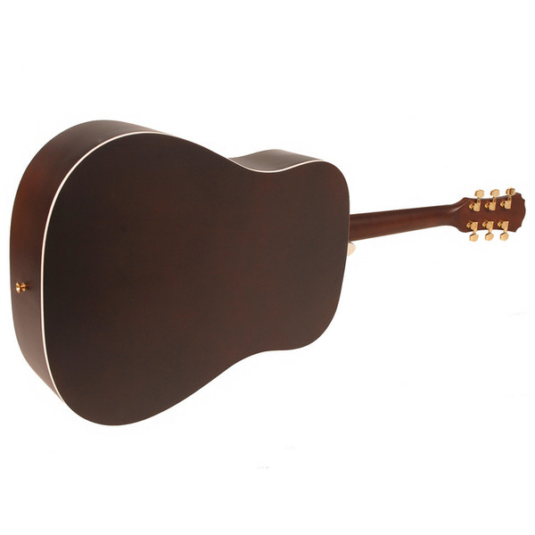 Freshman FA1DNS Dreadnought Acoustic Guitar, Natural with Hardcase Rear