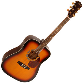 Freshman FA1DSBS Dreadnought Acoustic Guitar, Sunburst with Hardcase
