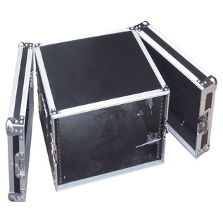 Electrovision Semi Flight Rack Case in Laminate Board, 8U