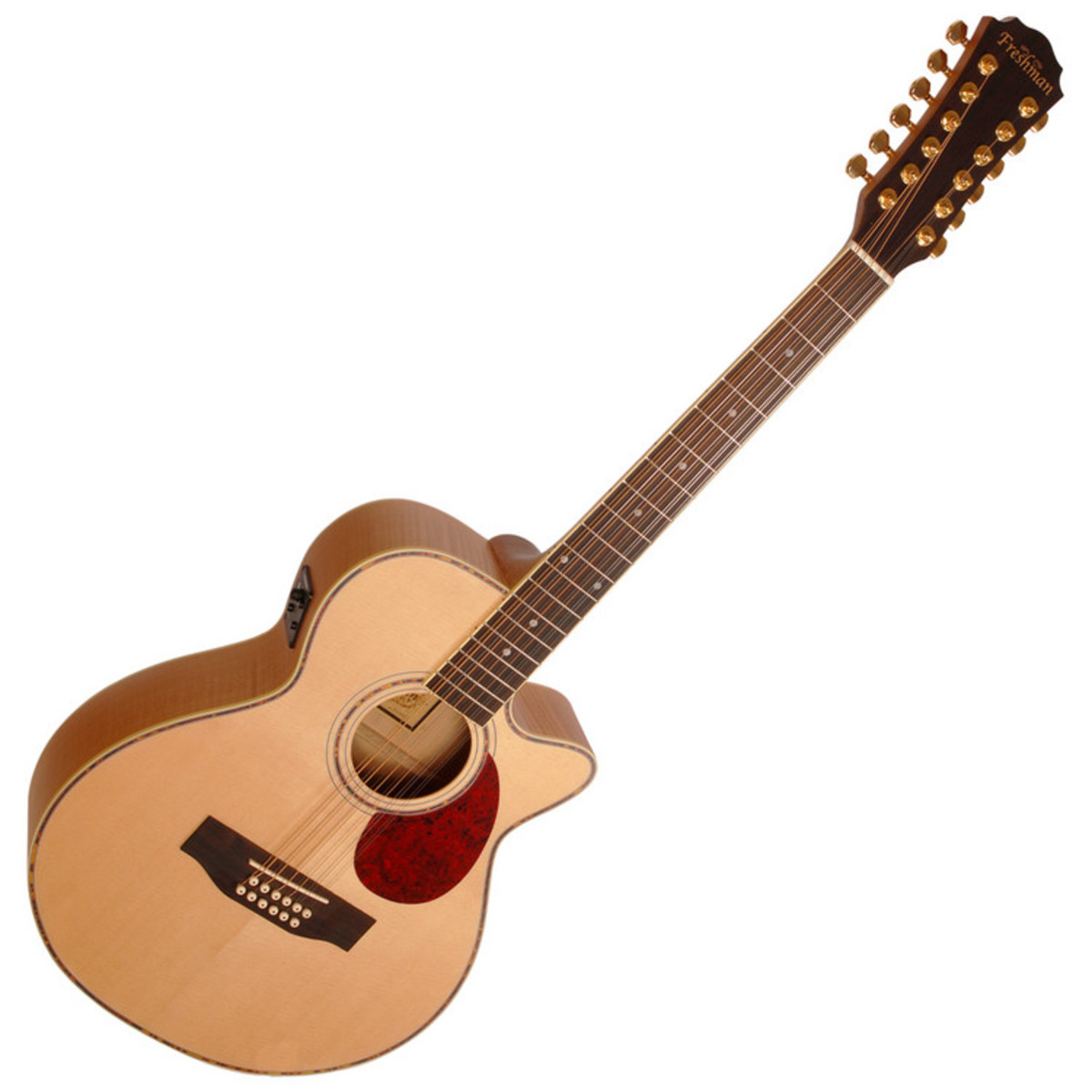 freshman fa1am12 12 string electro acoustic guitar natural at gear4music. Black Bedroom Furniture Sets. Home Design Ideas