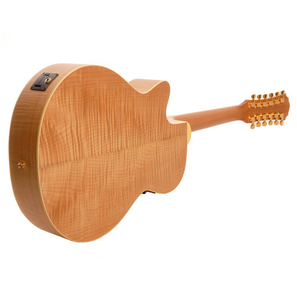 Freshman FA1AM12 12-String Acoustic Guitar, Natural Rear
