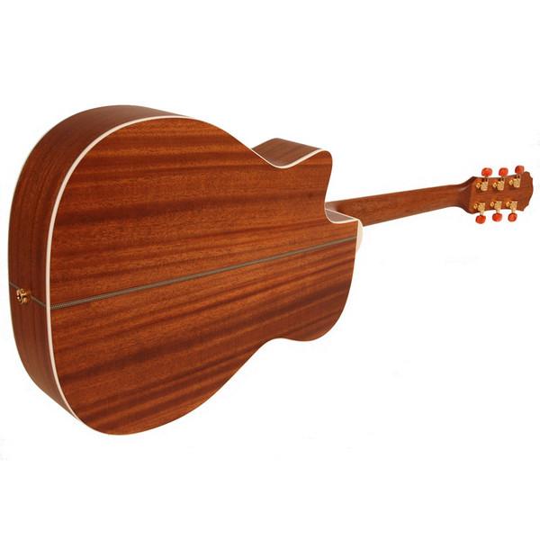 Freshman FA250GAC Acoustic Guitar, Natural Rear