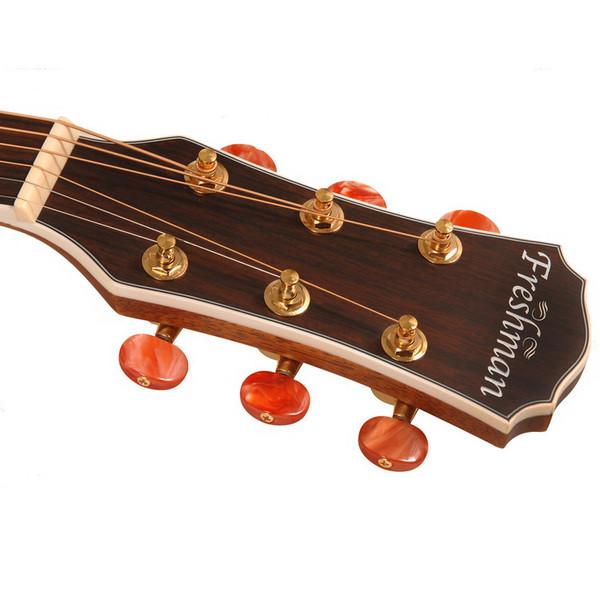 Freshman FA250GAC Acoustic Guitar, Natural Headstock
