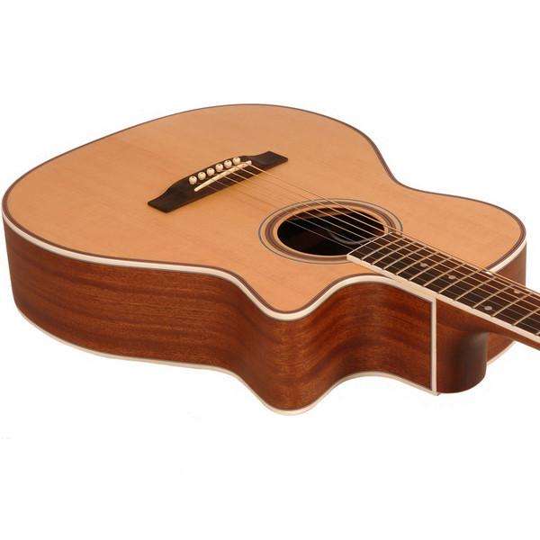 Freshman FA250GAC Acoustic Guitar, Natural Detail