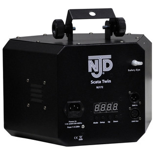 NJD LED SCATA Twin DMX Lighting Effect (Back)