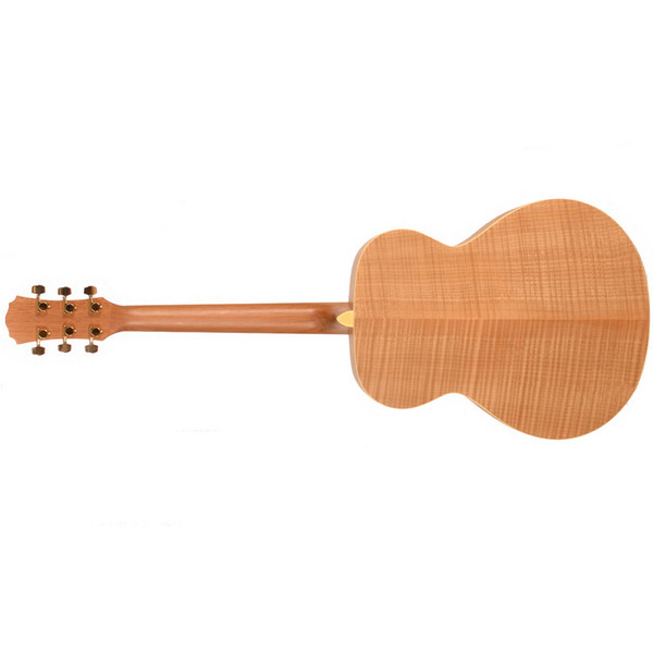 Freshman FA1GAM Grand Aud. Acoustic Guitar, Natural Rear