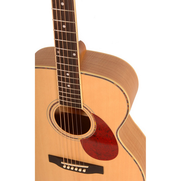 Freshman FA1GAM Grand Aud. Acoustic Guitar, Natural Detail