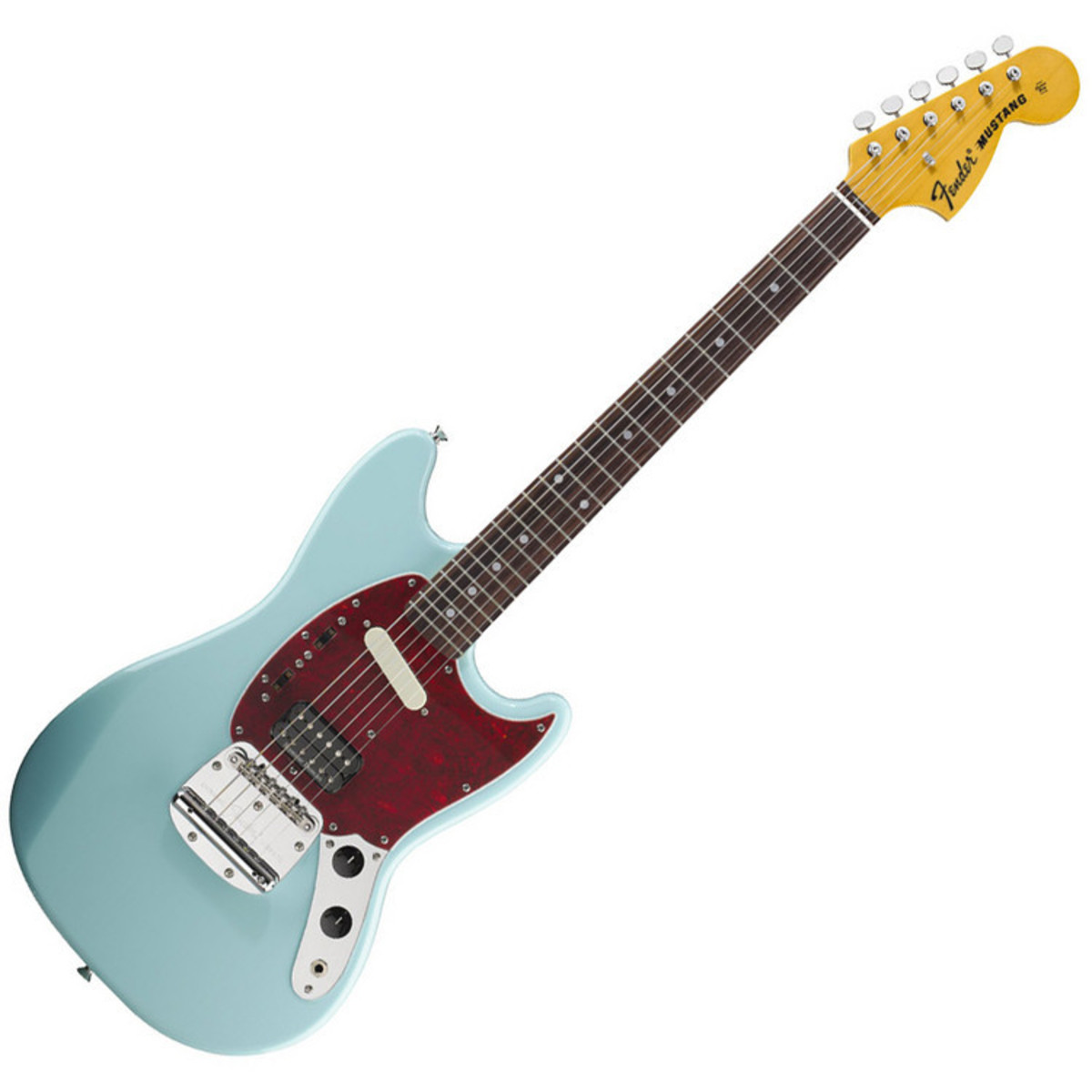 fender kurt cobain mustang signature guitar sonic blue free gift at. Black Bedroom Furniture Sets. Home Design Ideas