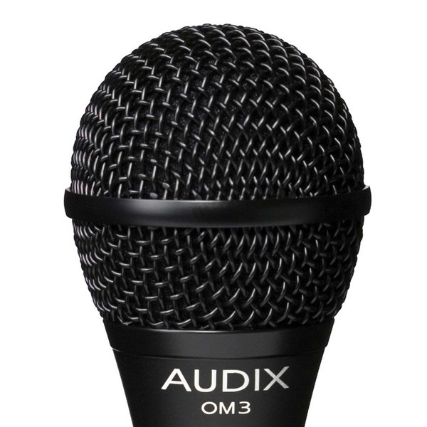 Audix OM3 Dynamic Vocal Microphone, Wide Response Detail