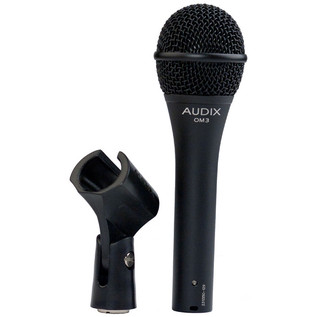 Audix OM3 Dynamic Vocal Microphone, Wide Response with Clip