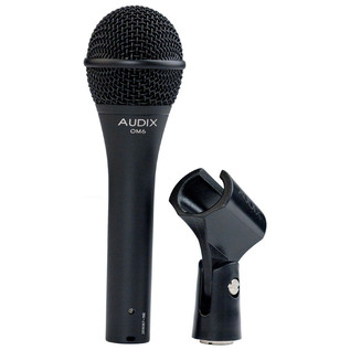 Audix OM6 Dynamic Vocal Microphone, Extended Low End Response with Clip