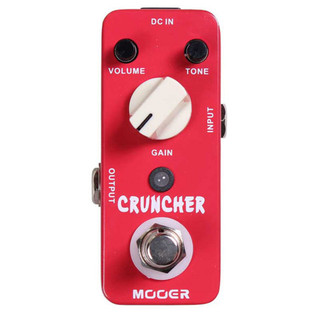 Mooer MDS3 Cruncher Distortion Pedal FREE Jack Patch Cables