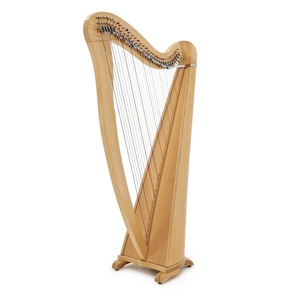 34 String Roundback Harp by Gear4music, Natural