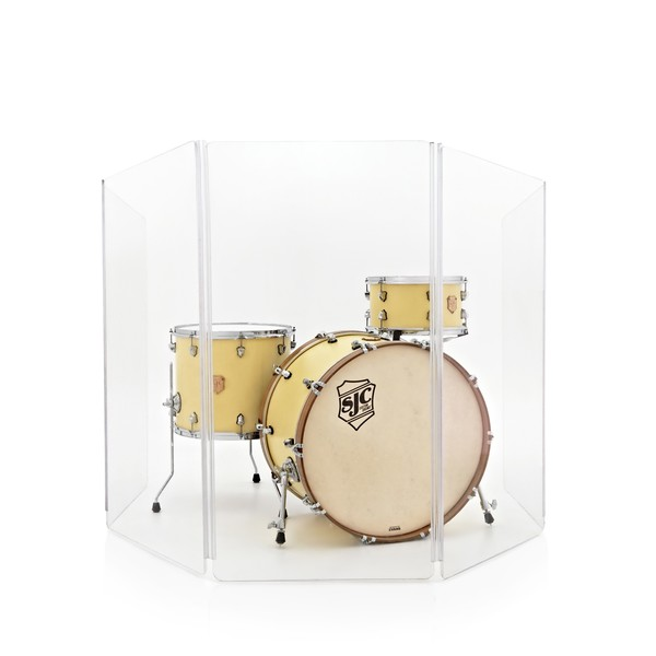 WHD Drum Screen, 5 Panel Clear Acrylic Shield, 122cm
