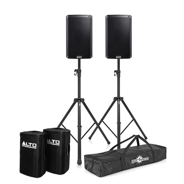 Alto TS310 Active Speakers with Stands and Covers, Pair
