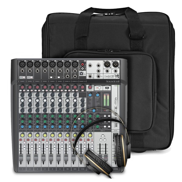 Soundcraft Signature 12 MTK Analogue Mixer with USB Bundle