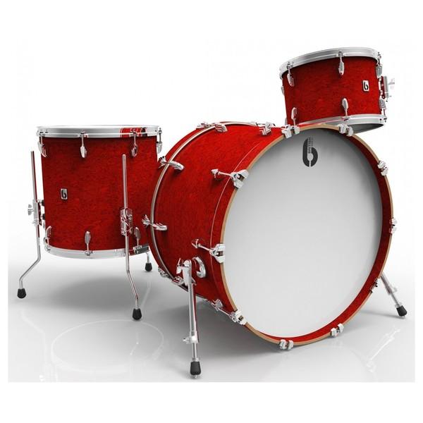 British Drum Co. 22'' 3pc Legend Series, Buckingham Scarlett - main image