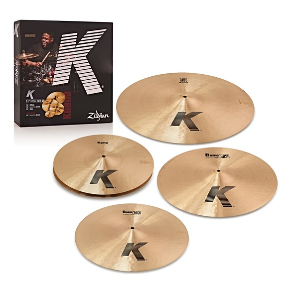 Zildjian K Cymbal Boxset with Free 18'' K Dark Thin Crash