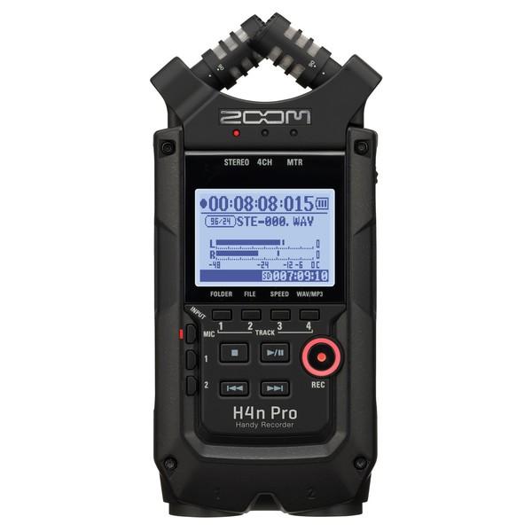 Zoom H4n Pro Handy Recorder, Black - Front